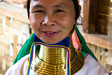 Long Neck vrouw in Myanmar