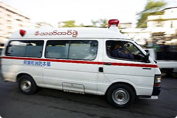 Ambulance in Myanmar