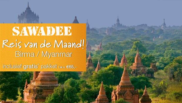 Myanmar is Reis van de Maand bij Sawadee