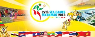 Myanmar gastland van de 27e Zuidoost-Aziatische Spelen 2013