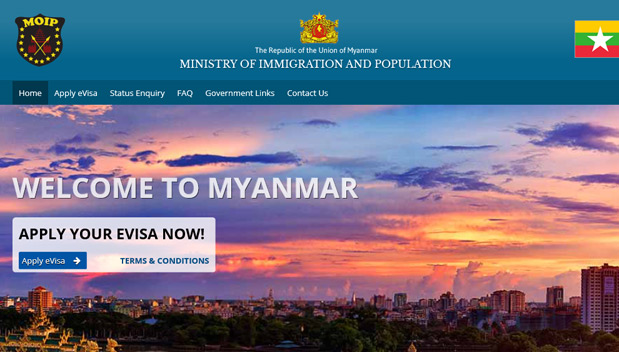 Myanmar opent online e-visum systeem